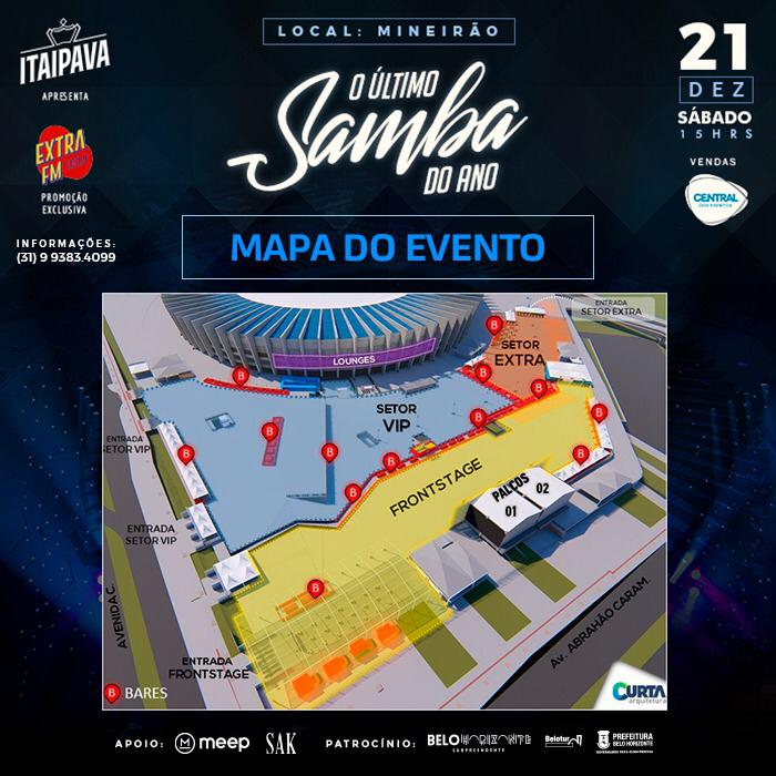 O Último Samba do Ano em BH: Mapa do Evento